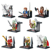 Wholesale The Lord of the Rings Hobbits Figures Toys Building Blocks Sets Model Bricks Minifigures Toy For Children DHL Free