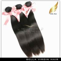 Peruvian Hair Weave Silky Straight Remy Hair Weft Extension de cheveux humains 3pcs / lot Couleur naturelle 7A 10-30 pouces Livraison gratuite
