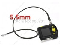 batteries borescope - NTS100 quot Endoscope Borescope mm Snake Inspection Tube Camera DVR Li on Battery Video Recorder