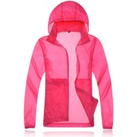 Wholesale Outdoor skin dust coat Quick drying jacket Waterproof Breathable Skin Dust Coat Camping Hiking Jackets Hooded UV Protection Wear