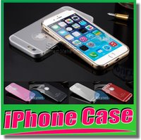arc plastics - For iPhone case Acrylic Glass Back Cover Aluminum Metal Arc Bumper Case For iPhone Plus Metal Case bumper No Screw Metal buckle phone