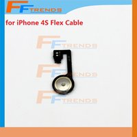 Cheap High Quality for iPhone 4S Home Button Flex Cable Ribbon Replacement Repair Parts Cell Phone Flex Cable Free China Post Air Mail