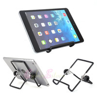 Wholesale Folding Metal Stand Multi angle Portable Desk Holder For Tablet E Reader iPad mini Kindle Fire Samsung Galaxy Acer LG