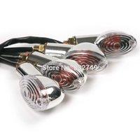 Wholesale 4Pcs Amber Car auto Motorcycle Universal LED turn signals Lamp Short Stalk Amber order lt no track