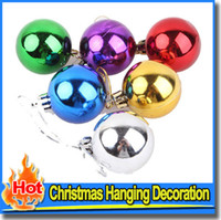 Wholesale Balls Ornament Party CM Wedding Color Christmas Tree Candy Colored Decorations Home Festival Ornaments Hanging Gift