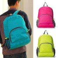 Wholesale Cute Unisex Travel Backpack Nylon Leisure Schoolbag Handbag Light Folded Bags Colors