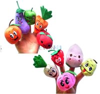 Wholesale Hot Selling set sets Funny Fruit Vegetable Finger Puppets Cloth Doll Baby Educational Hand Toy Story Kid Party Gift