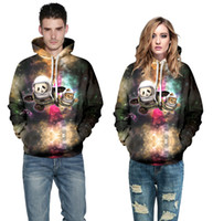 Wholesale Autumn Winter Famous Brand D Bear and cat Print Casual Men s Hoodies Fashion Men s Sweatshirts Hooded Men Coats woman baseball coat