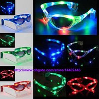 Wholesale Lowest Price Hot sell Best price Led sunglasses glasses gave light glow stick party funk