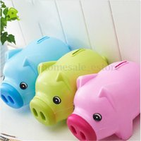 Wholesale Lovely Cute Cartoon Pig Shape Coin Storage Money Saving Piggy Bank For Kids Gift