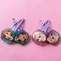 Barrettes Plastic Character Frozen Childrens Hair Accessories Elsa Anna Princess Pattern Kids Gifts Little Princess Favorite Hair Barrettes