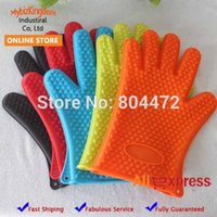 Wholesale 20 x PC Anti Hot Oven Mitts Silicone Glove Microwave