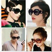 baroque mirror frame - New Style vintage Glasses Sunglasses Fashion Womens Retro Inspired Baroque Round Sun Glasses with Swirl oculos de sol gafas de sol orologio
