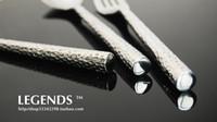 Wholesale 3pcs set Luxury legends knife fork spoon set top grade tableware supplies