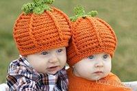 Wholesale Infant Toddler Pumkin hat Crochet Baby Pumpkin Hat Halloween Hat Baby girls boys beanie