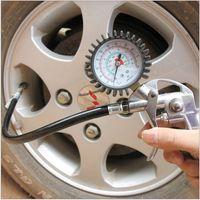 Wholesale High Quality Auto Air Inflator Gun Car motorcycle Bicycle Tire Pressure Gauge Barometer Tire Pump Measuring Tire Pressure Gauge