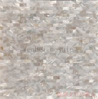 Wholesale 2015 Sea shell mosaic tile mother of pearl tile backsplash brick sea shell tiles white mother of pearl tiles bathroom mosaic tile FREE