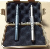 Wholesale 15PCS all weather waterproof box mm and Aviation aluminum tactical pen self defense Defence Pen
