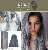 berina hair dye - BERINA NO A21 Permanent Color Hair Dye Cream Unisex Light Grey Punk