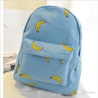 Backpack Style banana popsicles - Banana Popsicles hands onion pattern canvas shoulder bag student backpack schoolbags girls leisure backpack WZ70