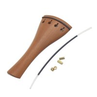 Wholesale Durable Strong Violin Fiddle Tailpiece Hill Style Jujube Wood with Tailgut Tailcord for Violin I844