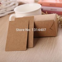 Wholesale Vintage Kraft Paper Message Card Greeting card for Congratulation Thanks Gift Invitation