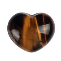 Wholesale 30mm Opalite Tiger eye Opal Heart Shape Crystal Chakra Stone Carved Healing Reiki Free Pouch