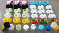 Wholesale 500pcs ml mini non stick silicone jars dab wax vaporizer oil container