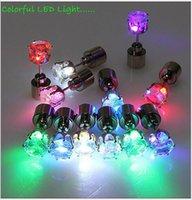 Wholesale New fashion led earring lighting crown shaped shiny studs light up earrings led earrings DHL free