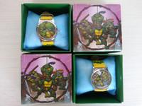 Wholesale Hot Christmas gif Teenage Mutant Ninja Turtles Style Pattern Cartoon Girls Kids Children Wrist Watch Gift H0002
