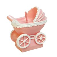Wholesale Cute Candy Color Children Happy Birthday Party Smokeless Baby Carriage Candle Charming Gifts Sunshine