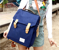 Wholesale New Fashion Backpack Schoolbag Vintage Canvas Backpack Rucksack Teenagers Daypacks Colors Mixed Sale gqf