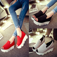 Cheap new 2015 Summer South Korea increased platform sandal wedges thick bottom lady fashion shoes for women's shoes Waterproof Casual High Heels