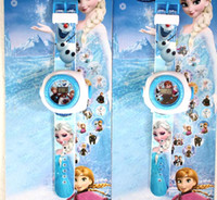 Wholesale New Frozen Cartoon Projection watch Children Gifts Different Patterns