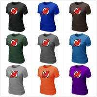 big hockey jerseys - Hockey Shirts New Jersey Devils t shirts Women Big Tall Logo Fashion Ladies Devils Hockey Tees Shirt O Neck Cotton Colors