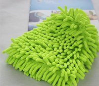 Wholesale 10pcs Big Both Side Microfiber Chenille Mitt Car Wash Glove Cleaning Tool Supply Home Duster Cleaner Y106