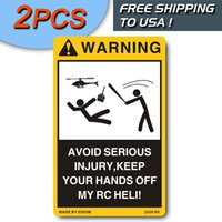 Wholesale Warning Decals for your nitro electric gas RC Helicopter Heli ch ch etc