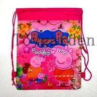 Cheap The Pig Drawstring Backpack School Swim Bag Kids Christmas Birthday Party Favourite Gift 12pcs