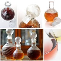 Wholesale Hot Selling Durable Quality ml Crystal Whiskey Wine Shot Glass Bottle With Cap Stopper Drinking Bar Decanter New Arrival
