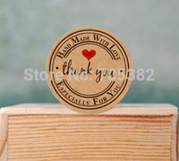 Wholesale Lovely round thank you letter decoration sticker seal Stickers gift adhesive label ss