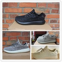 Wholesale Kanye West Boost Mens and Womens Basketball Shoes Dove Gray Moonrock Oxford Tan Priate Black Running Sneakers size