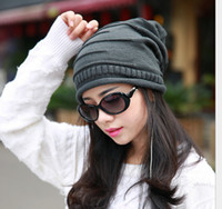 Wholesale 2014 winter Women Ladies Unisex Winter Knit Plicate Slouch Cap Hat Knitted Skull Beanies Casual Ski colors