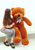 al por mayor grande enorme oso de peluche-Joyfay gigante oso de peluche 200 cm 2 m 78 '' Enorme Grande Animales de peluche de tamaño natural suave juguete de felpa 200cm de San Valentín regalo para la novia