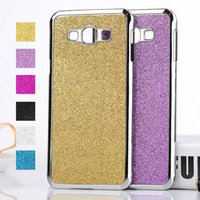 a8000 - For Galaxy A8 Bling Glitter Powder Hard PC Phone Back Case Electroplate Chrome Cover for Samsung A800 A8000
