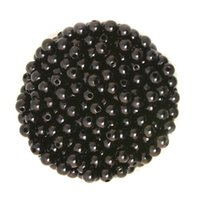Wholesale mm Black ABS Round Plastic Imitation Pearl Loose beads for Necklace Bracelet DIY Accessory DH BSG01 BK