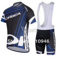 Wholesale 2014 ORBEA men s cycling Jersey sets with short sleeve bike good top padded bib short in cycling clothing breathable bicycle wear