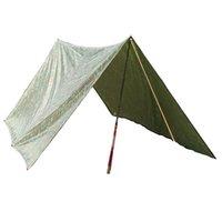 awning kit - 3 m Outdoor Awning Waterproof Hiking Camping Awning Camouflage Foldable Camping Mat Mattress Multifunction Travel Kits