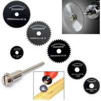 Wholesale 6PCs Metal HSS Circular Saw Blade Set Cutting Cutoff Disc for Dremel Rotary Tool