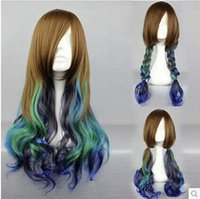 Wholesale The new hot mixed color Japanese anime wigs harajuku department lolita waves wig COS