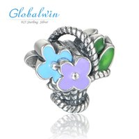 basket caps - Flower Basket Creative Sterling Silver Beads Fit Brand Jewelry Bracelets Beads amp Jewelry Making D158